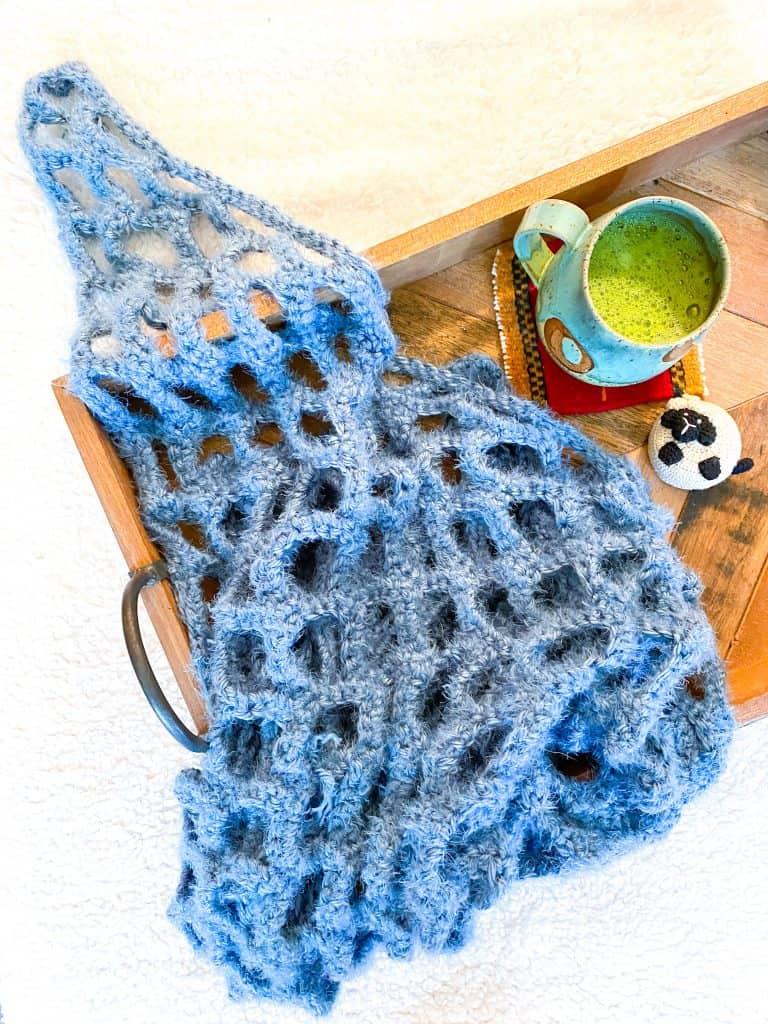Fisherman Shawl - Free Crochet Pattern - Kelsey Jane Designs