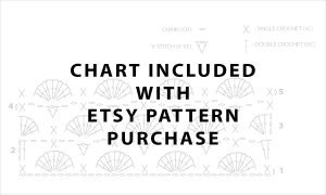 Check out my ETSY listing for the included stitch chart and photo directions on how to single crochet onto a wooden ring.